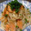 コストコの鮭で、塩焼きうどん☆食材アレンジ・レシピ