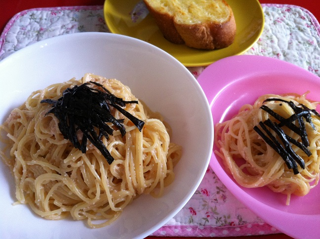 たらこスパゲッティー☆コストコ商品・アレンジ活用レシピ