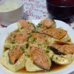 豆腐と鮭のレンジ蒸し☆コストコ食材・アレンジレシピ