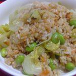 鮭と枝豆のレタスチャーハン☆コストコ食材・アレンジレシピ