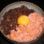 鮭と牛肉の二色丼☆コストコ食材・アレンジレシピ