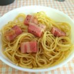 林檎のベーコンでペペロンチーノ☆コストコ食材アレンジ・レシピ