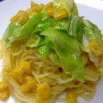 春キャベツとコーンのクリームパスタ ☆コストコ食材・アレンジレシピ