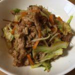 ヨシダソースグルメのたれとあごだしで☆和風肉野菜炒め